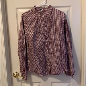 J. Crew Patterned Shirt size XL